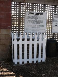 Clean compost bin