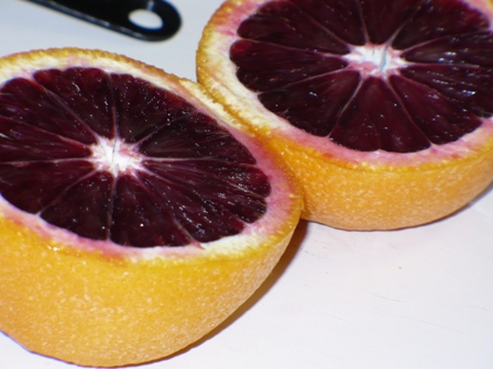 Blood Oranges…so strange-looking!