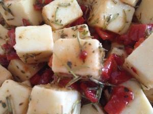 marinated cheese photo